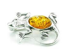 925 Sterling Silver & Amber Jewellery - Brooch EBC0078