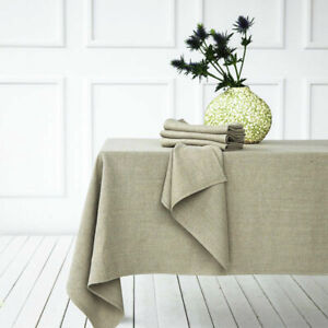 PREMIUM RUSTIC LINEN NAPKINS / MATCHING TABLE RUNNERS OR TABLECLOTHS 3 COLORS