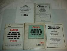 Lot 1990 90 GEO Chevrolet Storm Factory Service Manual Shop Repair OEM  ST371-90