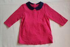 NWT BABY GAP GIRL'S RED PETER PAN COLLAR DRESS 100% COTTON (6-12 M)