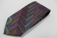 cravatta tie krawatte MISSONI astratto 100% seta silk soie (204)