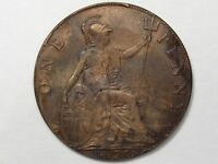 High Grade 1920 UK Great Britain Penny. King George V.  #74