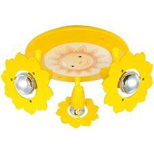 Deckenleuchte Deckenlampe Kinderzimmer Sonne 3x E14 * ELOBRA