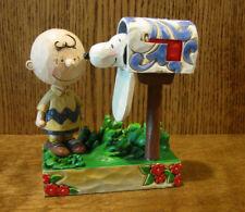 "Jim Shore PEANUTS #4042380 CHARLIE BROWN & SNOOPY, ""SPECIAL DELIVERY"", Enesco 5"""