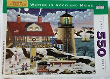 Winter in Rockland Maine, Spilsbury Jigsaw Puzzle Art by Heronim Complete