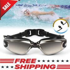 Swimming Goggles Anti Uv Fog Protection Electric Plating Swim Glasses + Earplug
