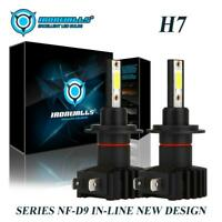 Pair H7 LED Headlight Bulbs Kit Low Beam 6000K for BMW X5 2000-2013 Z4 2003-2008
