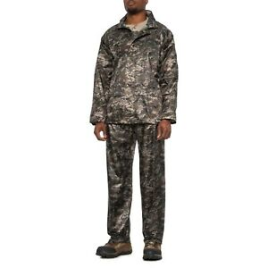 RPS Outdoors Digital CAMO MOSSI Ambush X 2 PC Rain Suit Pants JACKET Mens LARGE