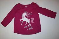 New Gymboree Girls Pink Glitter Unicorn Top Tee Shirt 12-18M NWT Mix N Match