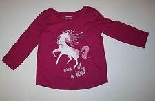 New Gymboree Pink Glitter Unicorn Top Tee Shirt Size 2T NWT Mix N Match Line