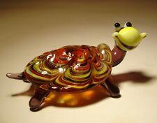 "Blown Glass Figurine ""Murano"" Art  Happy TURTLE Tortoise"
