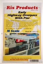 N Scale - Early 50' Highway Concrete Overpass with Pier - RIX-628-0152