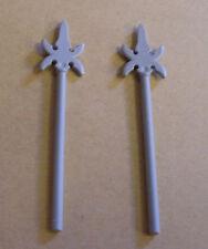 2 lego lanzas gris-gris claro-grande para figuras lanza castillo armas nuevo