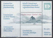Grönland Block 2 postfrisch Inter. Briefmarkenausstellung HAFNIA'87 Koppenhagen