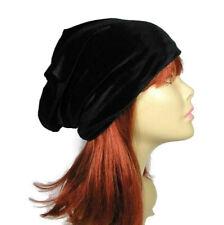 Black Velvet Hat Velvet Chemo Hat Black Velvet Slouchy Beanie Custom Sizes