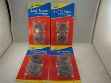 8 Lot Washing Machine Lint Traps Snare Filter Screens Aluminum Mesh W/ Clamps