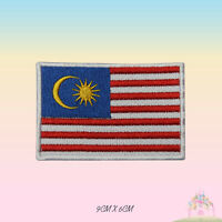 Malaysia National Flag Embroidered Iron On Patch Sew On Badge Applique