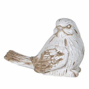 LARGE BIRD ORNAMENT  Cream & Brown  Lovely Home Decor 310mm High   NEW