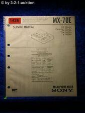 Sony Service Manual MX 70E Microphone Mixer (#1428)