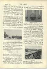 1898 Horseshoes In Oakham Castle Trolley Line Between Us And Canada