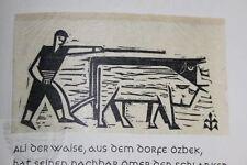 Karakolda : Ernst Engel-Presse: 4. Handpressendruck Ex. 130/150 de Cumali