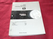 John Deere 695D Excavator Dealer's Technical Service Manual Operations & Tests