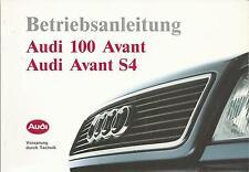 Audi 100 avant s4 avant c4 manual de instrucciones de 1993 manual de instrucciones ba