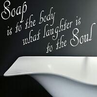 Soap For Soul Bath Quote Wall Sticker Decal Art Transfer Graphic Stencil QU75