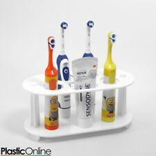 Electric Toothbrush Holder Toothpaste Holder 4x Toothbrush Stand White