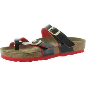 Birkenstock Womens Mayari Black Slip On Flat Footbed Sandals Shoes 35 BHFO 7637