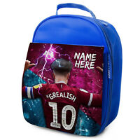 GREALISH Lunch Bag Villa School Insulated Boys Football Personalised NL05