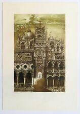 "Barbara Rosiak Colored Etching ""Weneja"" 1978 fine art print"