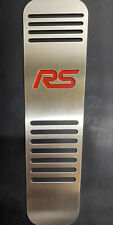 MK2/MK3 FORD FOCUS RED OR BLACK RS DEAD REST STAINLESS STEEL WITH BLACK RUBBER