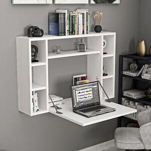 Schreibtisch ausklappbar Funktion Weiß Wandtisch Computertisch Klapptisch Tisch