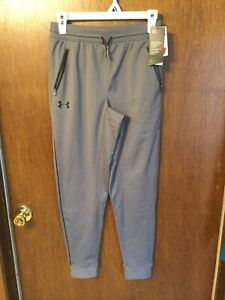 Under Armour Youth UA Pennant Tapered Pants Large Gray