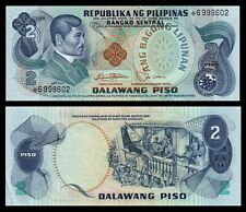 PHILIPPINES 2 PESO  1970-1978 RIZAL FLAG UNC STAR * * REPLACEMENT MONEY BILL BAN