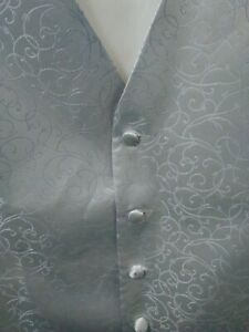 MENS WAISTCOAT SIZE 48. Silver pattern. New without tags. Free postage.