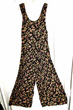 Vintage DONNA RICCO NY  Floral Pleated Romper Open Back Made in USA sz 6