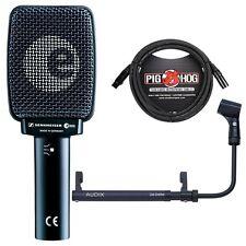 Sennheiser e906 Gitarren Amp Taxi Mikrofon mit cabgrabber Halter & 10 M XLR Kabel