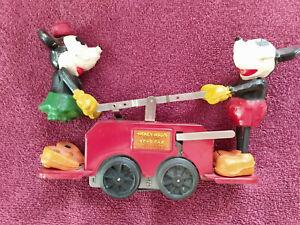 Lionel Mickey Mouse handcar No. 1100 Wind up. Prewar.
