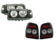 TUNING KIT Klarglas Scheinwerfer + Rückleuchten VW Polo 6N SCHWARZ rechts links