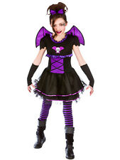 Halloween Girls Fancy Dress Up Horror Ballerina Bat Scary Kids Childrens Costume
