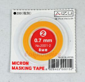 AIZU MODEL PAINT SPRAY MICRON MASKING TAPE 0.7MM 8M