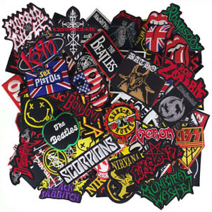 Wholesale Lot Music Punk Rock Reggae HipHop Logo Sew Iron Embroidered on Patch