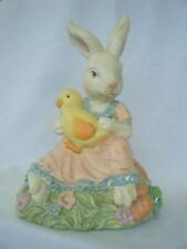 Easter Bunny Couple, Mr. & Mrs Bunny, Approx. 10 Inches Tall.