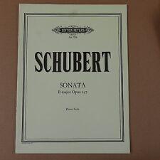 Assolo di pianoforte SCHUBERT SONATA B Maj op. 147, Peters 7210
