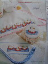 5 Bathtime fun ducks cross stitch charts designed by Lucie Heaton