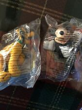 New listing 2 Disney McDonalds House of Mouse Soft Toy Mickey Mouse & Pluto Happy Meal New