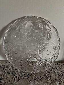 German Hofbauer Crystal Byrdes Collection Cake Plate