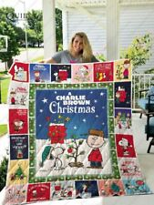 A Charlie Brown Christmas quilt blanket, snoopy quilt blanket
